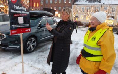 Parkering på stortorget i Östersund